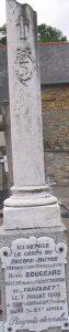 Stèle en mémoire d'Henri Bougeard